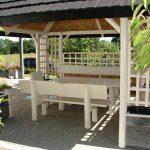 Altana ogrodowa Willa biała